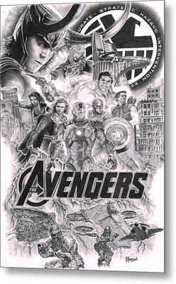 The Avengers Metal Print by David Horton