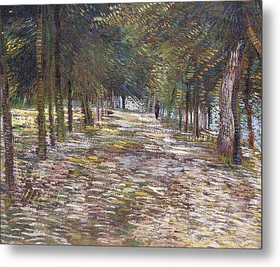 The Avenue At The Park Metal Print by Vincent Van Gogh