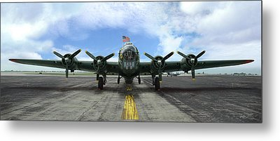 The B17 Flying Fortress Metal Print by Rod Seel