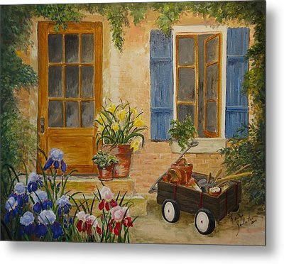 The Back Door Metal Print by Marilyn Zalatan