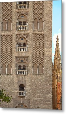 The Balconies Of Seville Cathedral Belfry Metal Print by Viacheslav Savitskiy