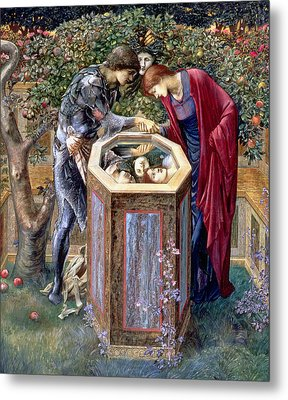 The Baleful Head, C.1876 Metal Print by Sir Edward Coley Burne-Jones