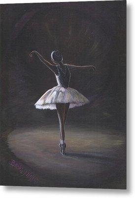 The Ballerina Metal Print by Beckie J Neff