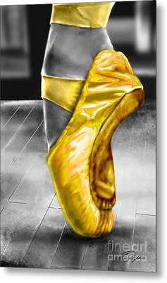 The Ballerina N Yellow  Metal Print