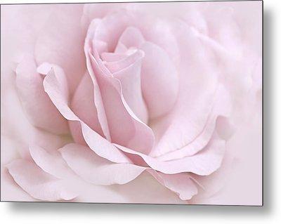 The Ballerina Pink Rose Flower Metal Print by Jennie Marie Schell