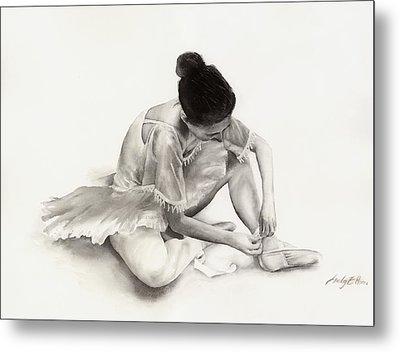 The Ballet Dancer Metal Print by Hailey E Herrera