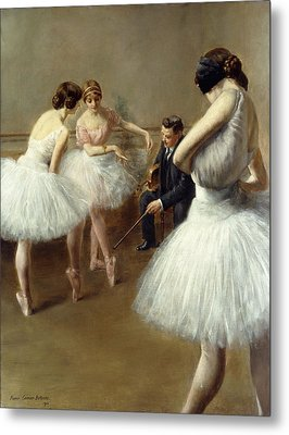 The Ballet Lesson Metal Print by Pierre Carrier-Belleuse