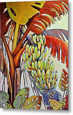 The Banana Tree Metal Print by JAXINE Cummins