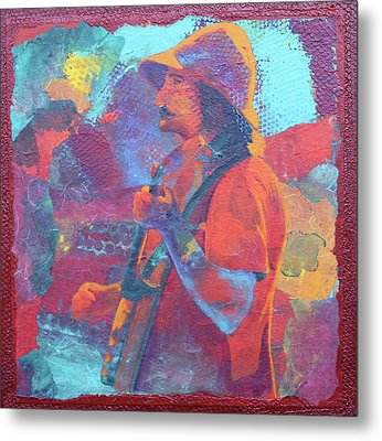 Metal Print featuring the painting The Banjo Player by Nancy Jolley