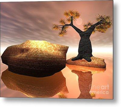 Metal Print featuring the digital art The Baobab Tree by Jacqueline Lloyd