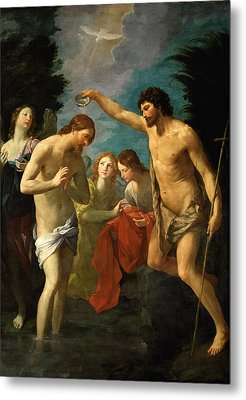 The Baptism Of Christ Metal Print by Guido Reni