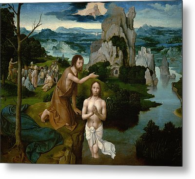 The Baptism Of Christ Metal Print by Joachim Patinir