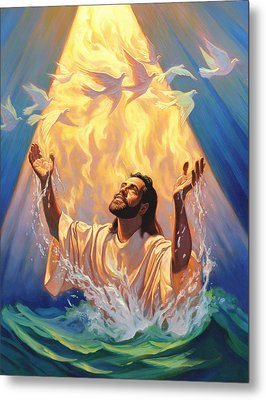 The Baptism Of Jesus Metal Print by Jeff Haynie