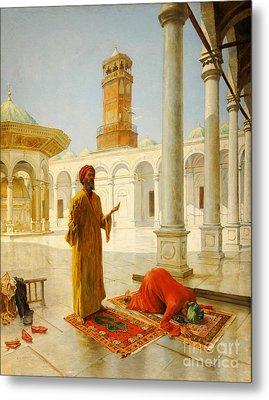 Muslim Prayer Metal Print