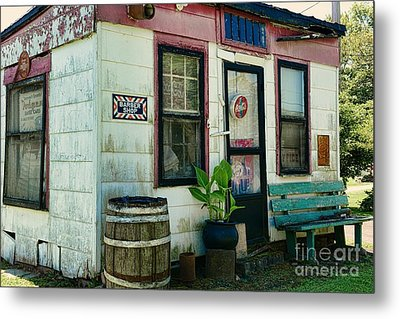 The Barber Shop From A Different Era Metal Print by Paul Ward