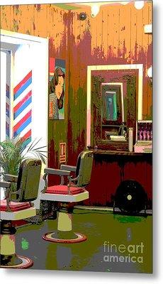 The Barber Shop Metal Print by Sophie Vigneault
