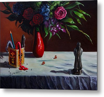 The Bard And The Bouquet Metal Print by Sourav Bose