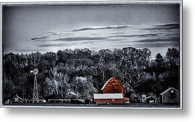 The Barn And The Windmill Metal Print