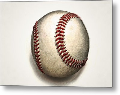 The Baseball Metal Print by Bill Cannon