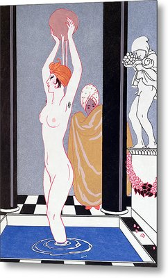 The Basin Metal Print by Georges Barbier