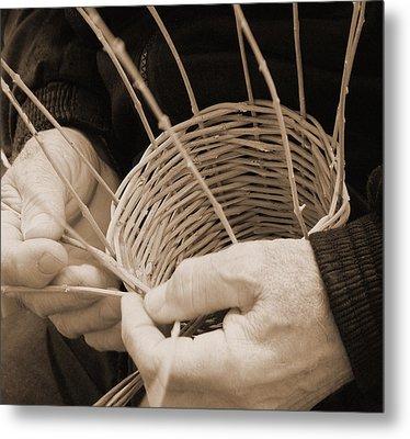 The Basket Weaver Metal Print