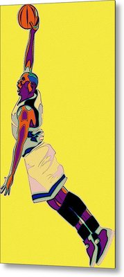 The Basketball Player Metal Print