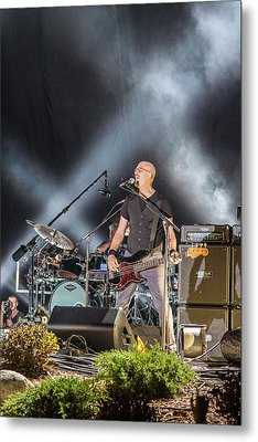 The Bass Player Jerry Flowers Metal Print by Mike Burgquist