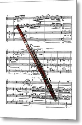 The Bassoon Metal Print by Ron Davidson