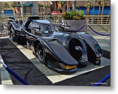 The Batmobile Metal Print by Tommy Anderson