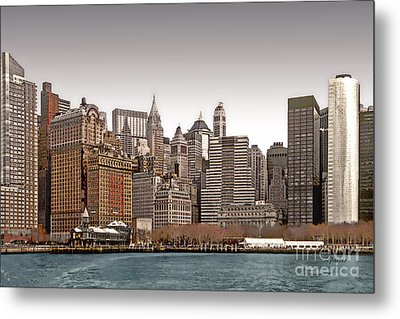 The Battery New York City Metal Print by Linda  Parker