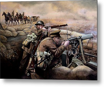the battle of Fromelles Metal Print