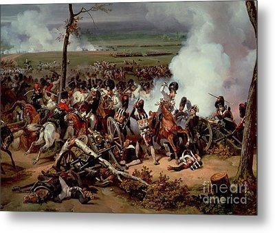 The Battle Of Hanau Metal Print by Emile Jean Horace Vernet