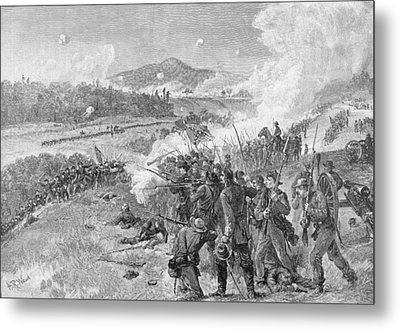 The Battle Of Resaca, Georgia, May 14th 1864, Illustration From Battles And Leaders Of The Civil Metal Print