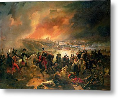 The Battle Of Smolensk, 17th August 1812, 1839 Oil On Canvas Metal Print