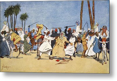 The Battle Of The Nile, From The Light Metal Print by Lance Thackeray