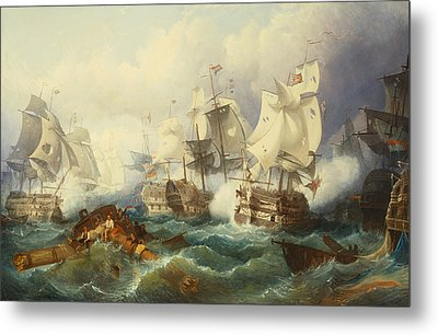 The Battle Of Trafalgar Metal Print