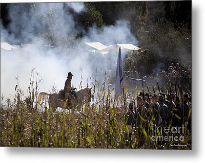 The Battle Scene Metal Print