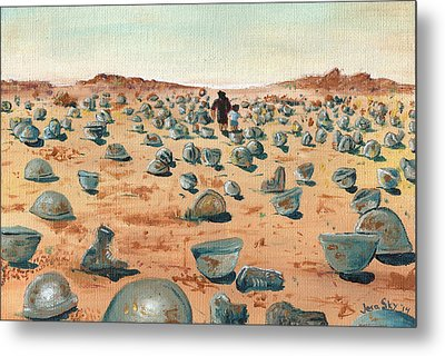 The Battlefield Metal Print by Jera Sky