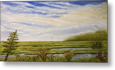 The Bay Side Of The Shore Metal Print