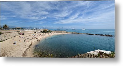 Metal Print featuring the photograph The Beach At Cap D' Antibes by Allen Sheffield