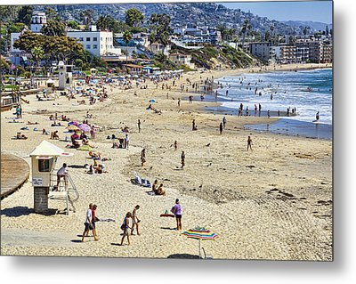The Beach At Laguna Metal Print by Kelley King
