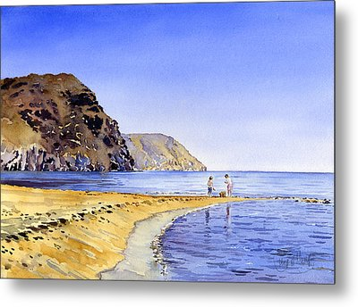 The Beach At Las Negras Metal Print by Margaret Merry