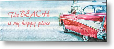 The Beach Is My Happy Place Metal Print by Edward Fielding