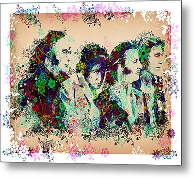 The Beatles 10 Metal Print by Bekim Art