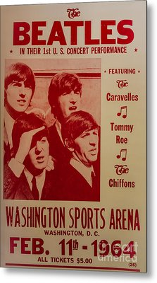 The Beatles 1st U.s. Concert Metal Print by Mitch Shindelbower