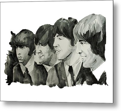 The Beatles 2 Metal Print by Bekim Art