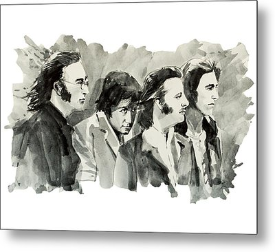 The Beatles 3 Metal Print by Bekim Art