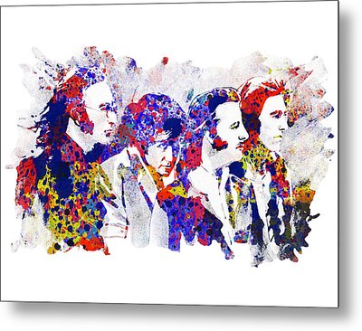 The Beatles 4 Metal Print by Bekim Art