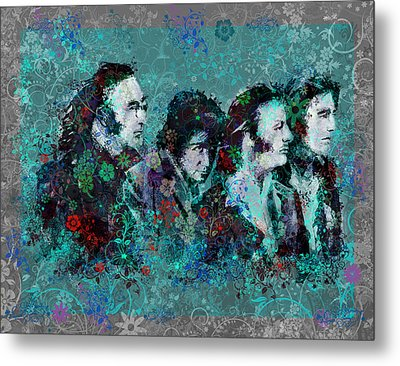 The Beatles 9 Metal Print by Bekim Art