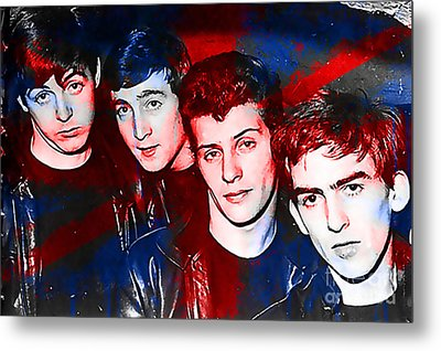 The Beatles Before Ringo Pete Best Painting Metal Print by Marvin Blaine